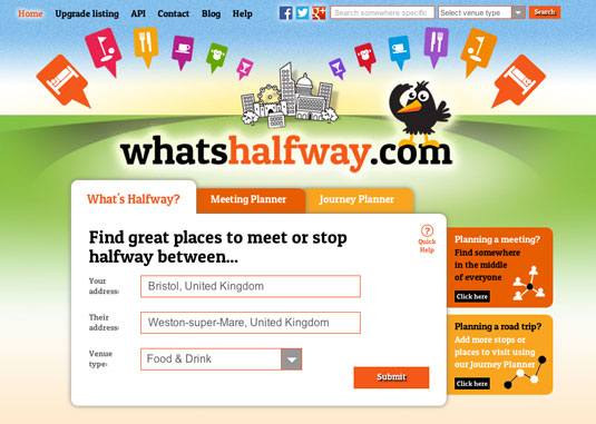 What's Halfway homescreen