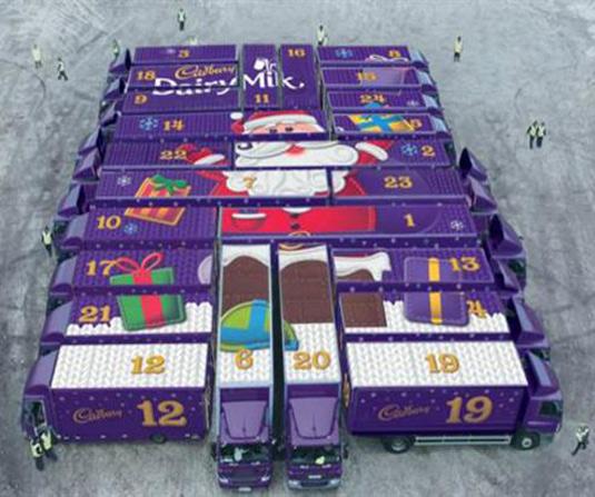 Cadbury trucks