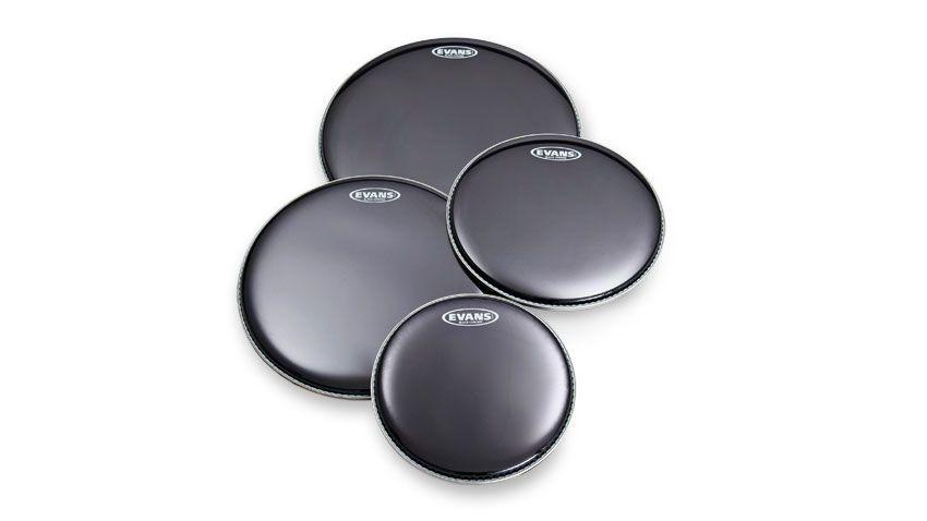 evans black chrome drums heads review musicradar. Black Bedroom Furniture Sets. Home Design Ideas