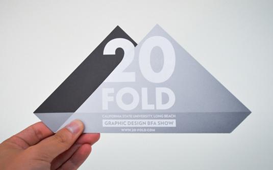Flyer design: 20 Fold