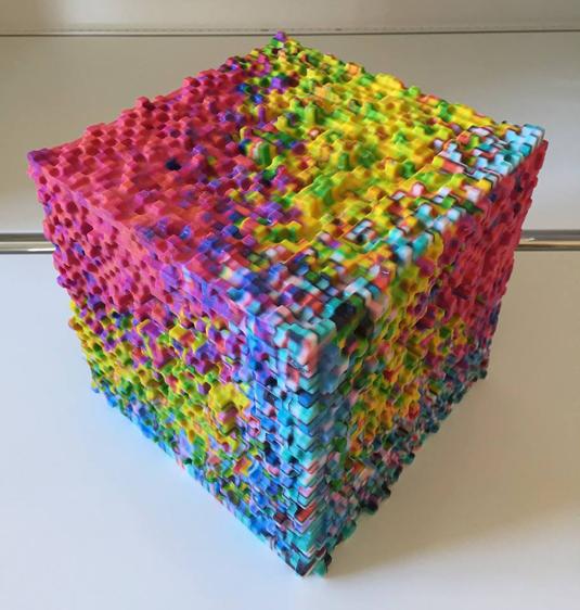 3D printed pixel art
