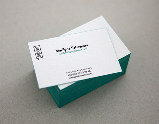 examples of letterpress business cards