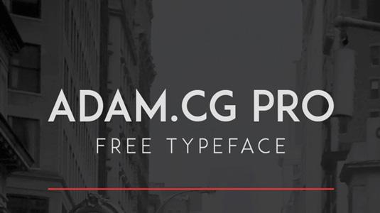 Free font: ADAM CG.PRO