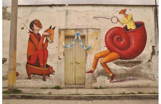 examples of street art: Interesni Kazki