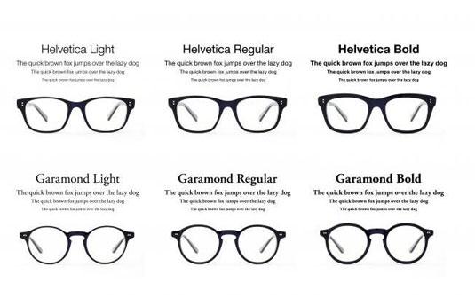 font glasses
