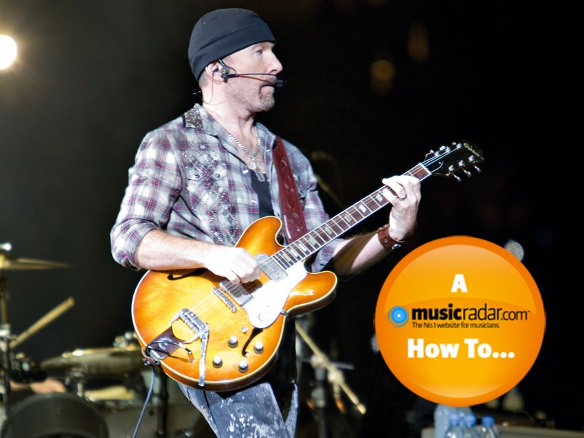how to make a the edge style guitar sound in garageband musicradar. Black Bedroom Furniture Sets. Home Design Ideas
