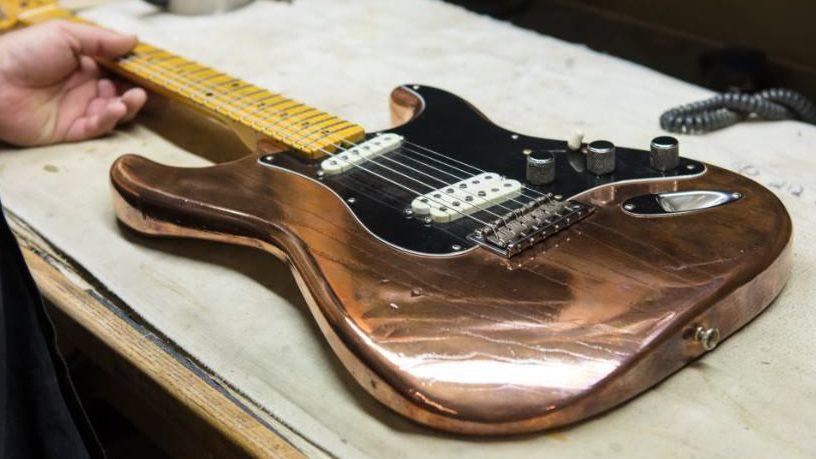 fender custom shop honours the band 39 s robbie robertson with last waltz stratocaster guitar. Black Bedroom Furniture Sets. Home Design Ideas