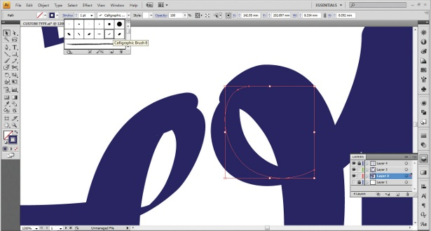 Use the Calligraphic Brush tool: step 9