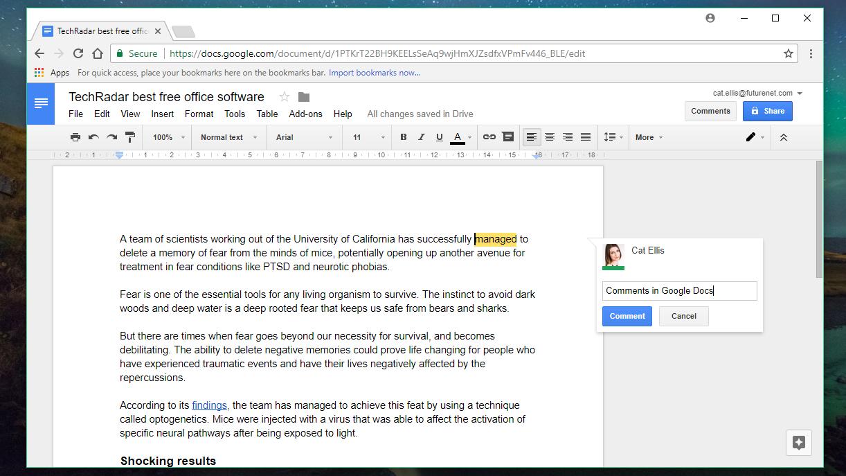 Google Docs, Sheets and Slides