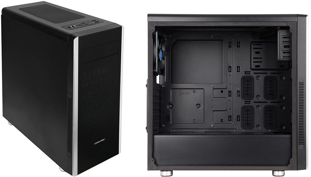 Cooltek cases keep things tidy by separating the PSU and storage