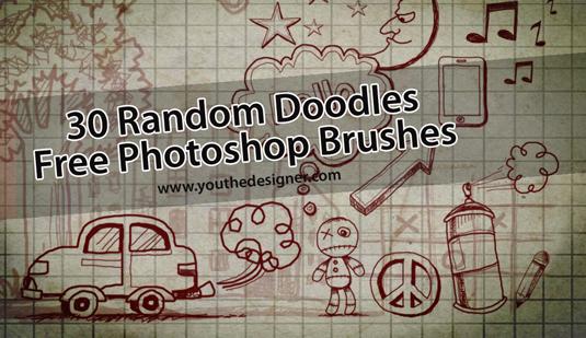 Free Photoshop brushes: doodle
