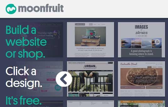 Website builder: Moonfruit