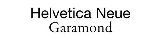 Font pairings: Helvetica Neue and Garamond
