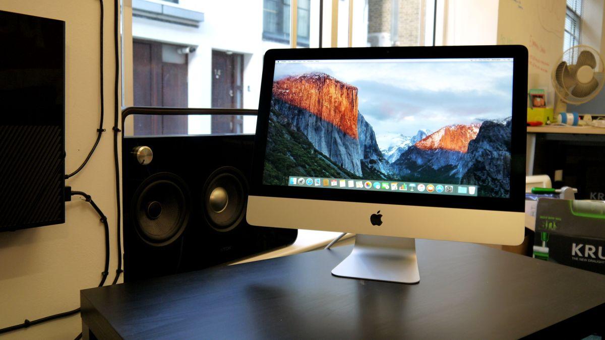Apple imac 21 5 inch late 2015 review techradar - Desk for inch imac ...