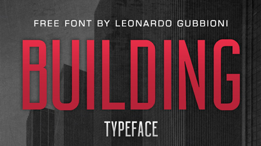 Free font: Building