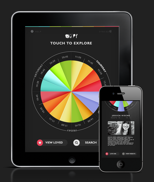 Somewhat designed the official app for OFFF 2012