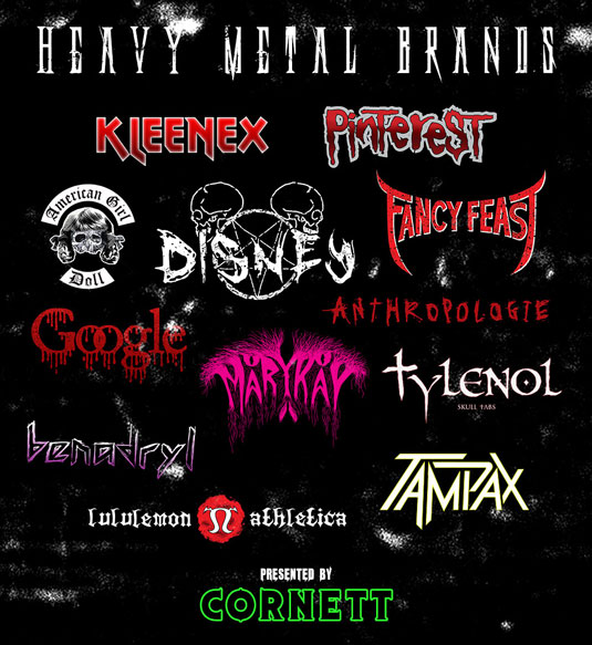 heavy metal brands