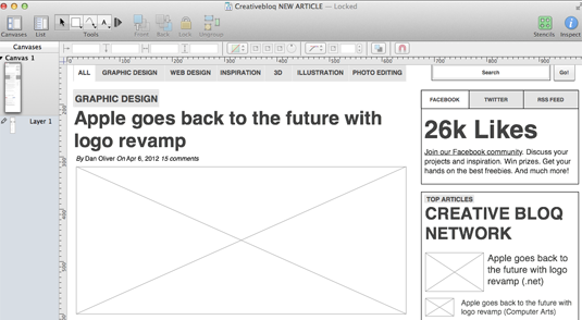 Wireframe tools - Omnigraffle