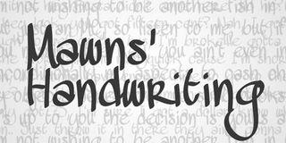 Fuentes escritas a mano libres Mawns Handwriting