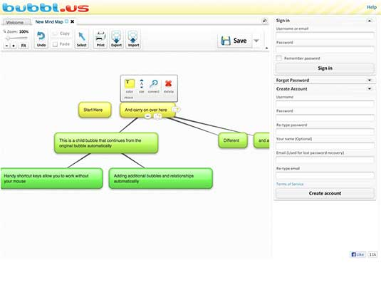 Mind mapping tool 5