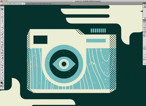 Create retro graphics in Illustrator: step 8