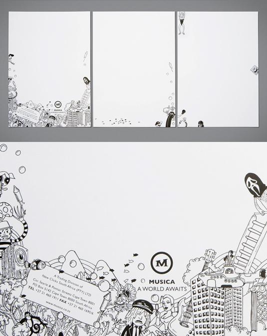 Letterhead designs: Musica