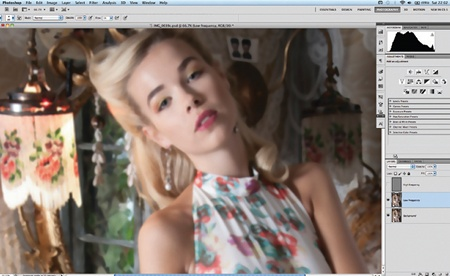 Retouch images with frequency separation: step 4