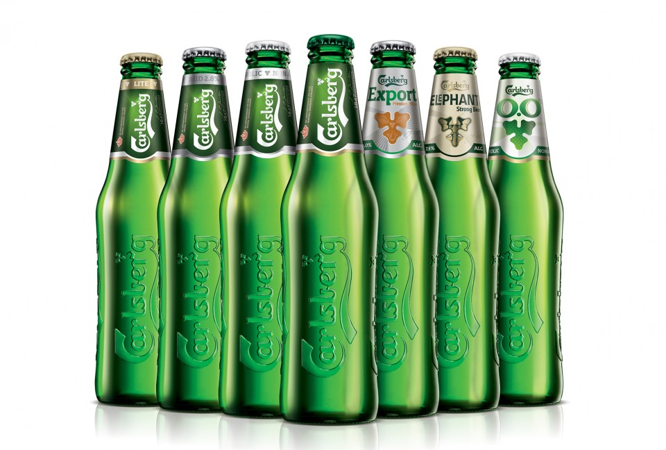 Carlsberg logo and flat design