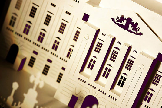 3d london paper cut cards