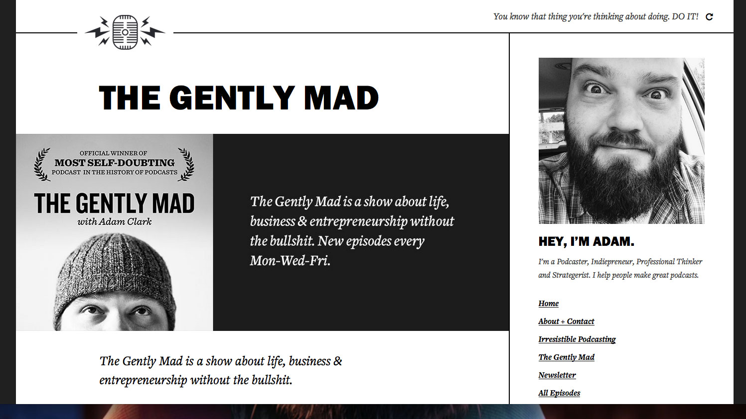 Web design inspiration: The Gently Mad