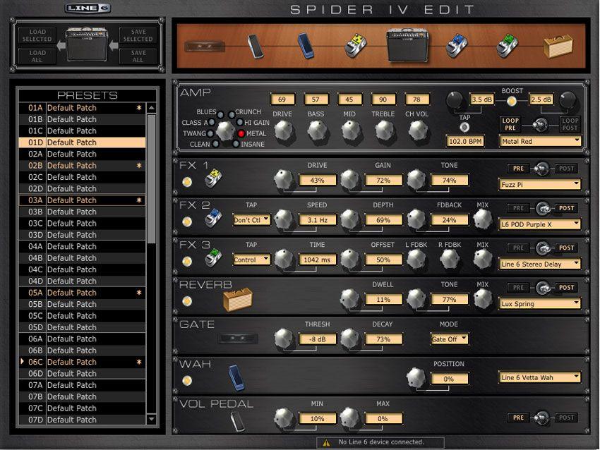 musikmesse 2010 line 6 announces free software update for spider guitar amplifiers musicradar. Black Bedroom Furniture Sets. Home Design Ideas