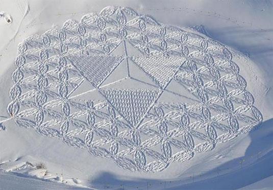 geometric snow patterns