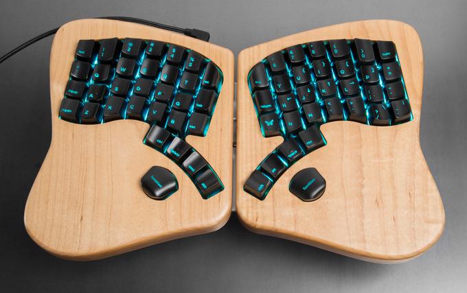 The Model 01 keyboard