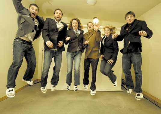 Manage other designers: Designers jumping for joy