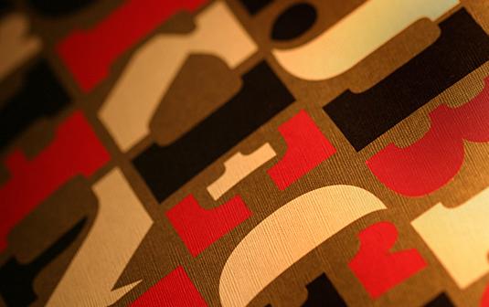 Eames Black Stencil font