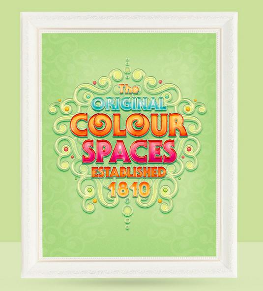 Radim Malinic print saying the original colour spaces established 1810