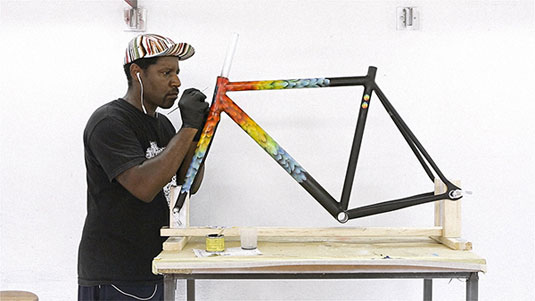 hand painted bike