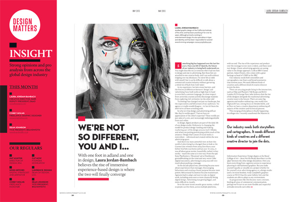 Spread from Insight section of the all-new Computer Arts