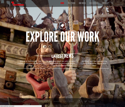 aardman new website and stationary