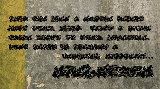 Graffiti font Maelstrom
