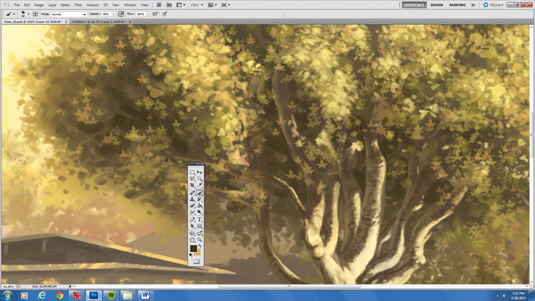 How to paint 2D foliage