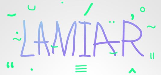 Free font: Lamiar