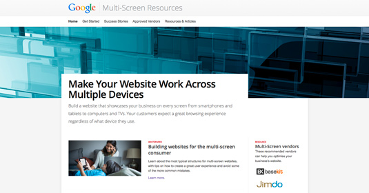 multi-screen site development
