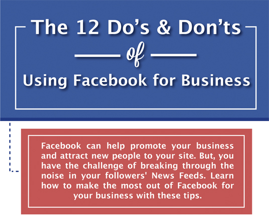 facebook do's and don'ts