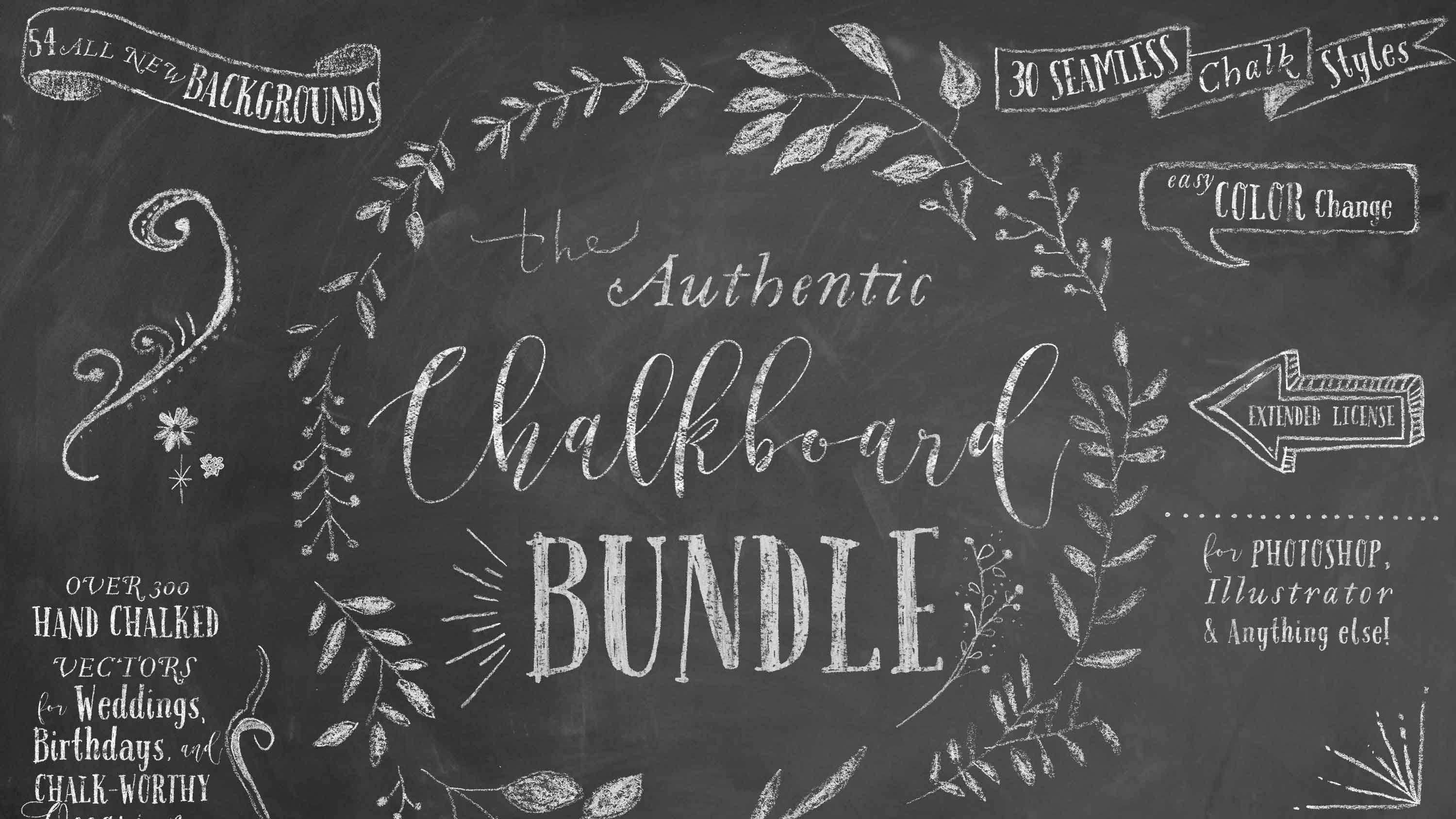 Best graphic design tools for May: chalkboard bunde