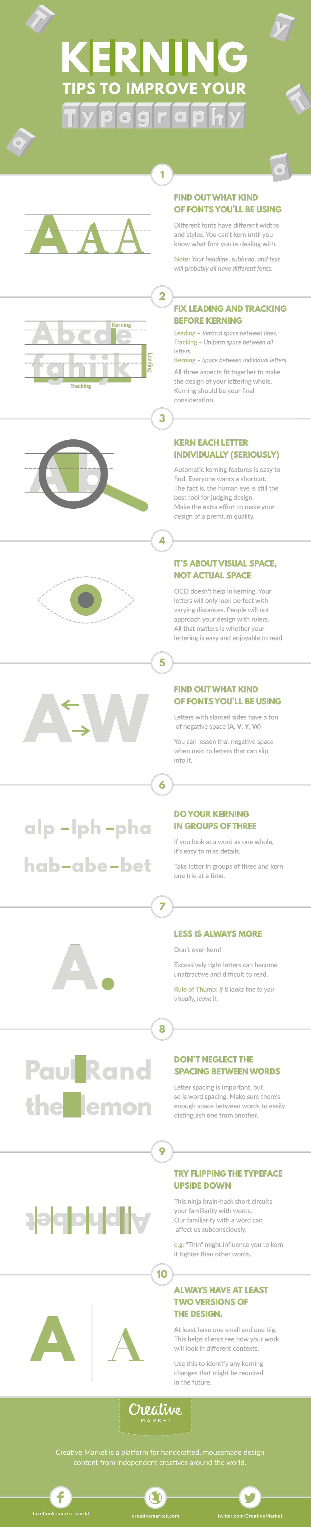 Kerning tips to improve your typography