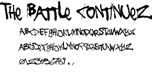 Graffiti font The Battle Continues