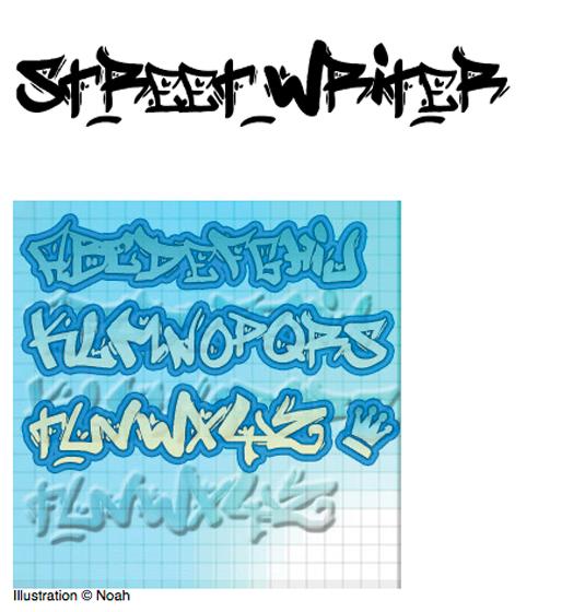 Graffiti fontStreet Writer