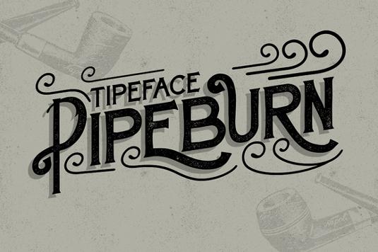 Free font: Pipeburn
