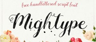 Fuentes de escritura libre Mightype